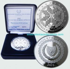 Cyprus - 5 Euro Silver PROOF, EU Presidency, 2012
