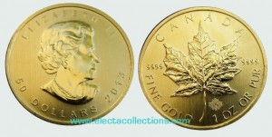 Canada - Gold coin BU 1 oz, Maple Leaf, 2013