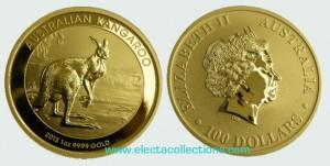 Australia - Gold coin BU 1 oz, Kangaroo, 2013