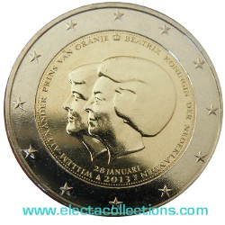 Netherlands – 2 Euro, Change of Throne Announcement, 2013