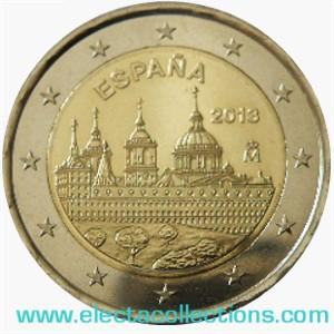 Spain – 2 Euro, San Lorenzo del Escorial Monastery, 2013
