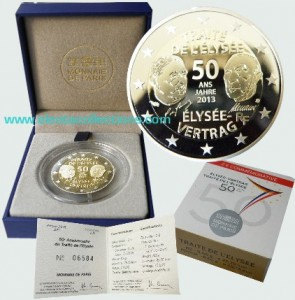 France - 2 Euro PROOF, 50th anniversary of the Elysee Treaty, 2013
