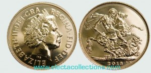 Great Britain - Elizabeth II, Gold Sovereign BU, 2013 (in capsule)