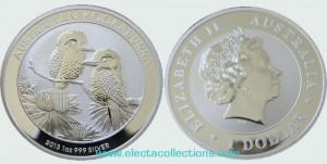 Australia - Silver coin BU 1 oz, Kookaburra, 2013