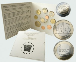 Slovenia - Euro coins, Official BU Set 2013