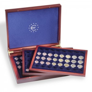 Presentation case - Three inlays, for 18 complete Euro sets