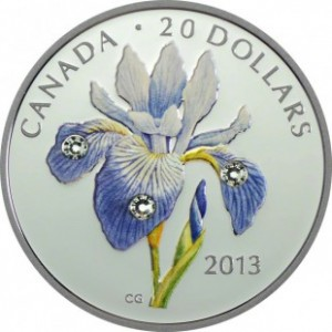 Canada - 20 Dollars silver 1 oz PROOF, Blue Flag Iris, 2013