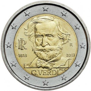 Italy – 2 Euro UNC, Giuseppe Verdi, 2013