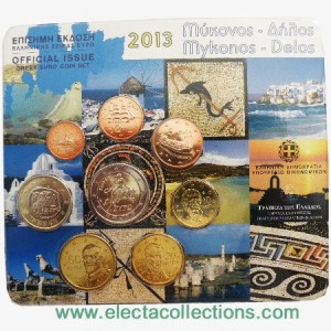 "Greece - Official BU Set 2013 ""Islands of Myconos and Delos"", 2013"