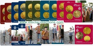 San Marino - The Crossbowmen, Complete collection, 10 coin cards 2013