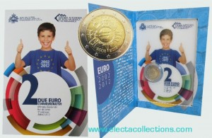 San Marino - 2 Euro commemorative, 10 years euro cash, 2012