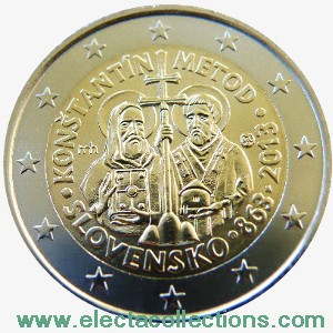 Slovakia – 2 Euro, Constantine and Methodius, 2013