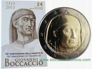 Italy – 2 Euro BU, Giovanni Boccaccio, 2013 (in blister)