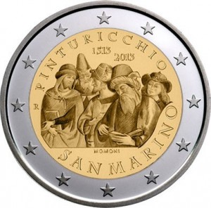 San Marino – 2 Euro, 500th Anniversary of the Death of Pinturicchio, 2013