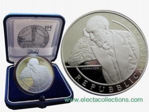 Italy - 10 Euro Silver Proof, LUIGI PIRANDELLO, 2013