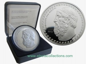 Greece - 10 Euro Silver Proof, Sophocles, 2013