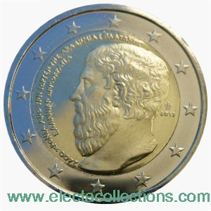 Greece – 2 Euro, 2400 anniversary of Plato's Academy, 2013