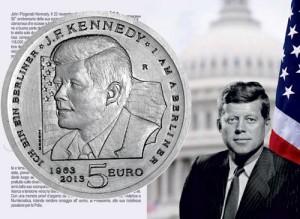 San Marino - 5 Euro Silver PROOF, J.F. Kennedy, 2013