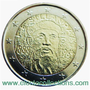 Finland - 2 Euro, 125th Anniversary of the birth of F.E. Sillanpaa, 2013