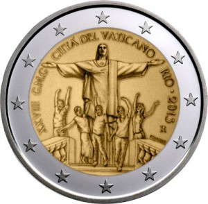 Vatican - 2 Euro, 28th World Youth Day - Rio, 2013 (in blister)