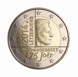 Luxemburg - 2 Euro, 175 years of independence, 2014