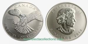 Canada - Silver coin BU 1 oz, Peregrine Falcon, 2014