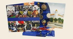 Slovakei - Original Kursmunzensatz BU, Beitritts zur EU, 2014