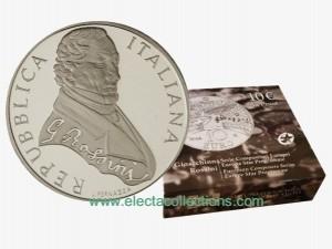 10 Euro Silbermünze Polierte Platte, Gioachino Rossini 2014.