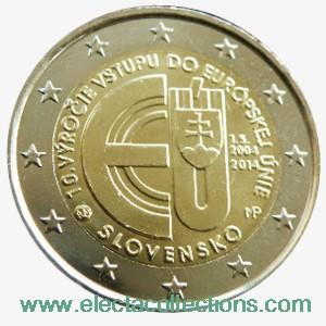 Slovakei - 2 euro Gedenkmünze, 10. Jahrestag des EU-Beitritts, 2014