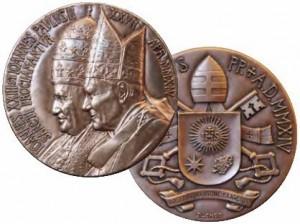 Vatikan - Bronze Medaille, Johannes XXIII. Joh. Paul, 2014