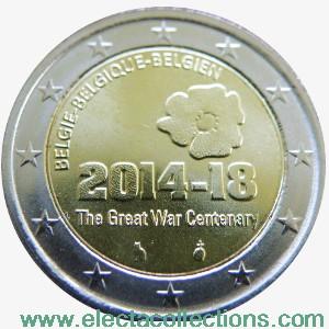 Belgium – 2 Euro, World War I, 2014