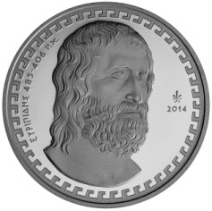 Greece - 10 Euro Silver Proof, EURIPIDES, 2014