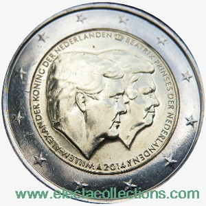 Netherlands – 2 Euro, The Double Portrait, 2014