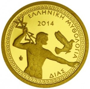 Greece - 100 Euro mini gold, ZEUS, 2014