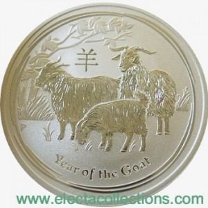 Australia - Silver coin BU 1 oz, Year of the Goat, 2015