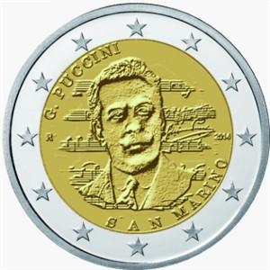 San Marino – 2 Euro BU, Giacomo Puccini, 2014