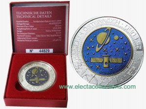 Austria - 25 Euro Niob BU, Cosmology, 2015