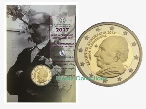 Greece – 2 Euro, NIKOS KAZANTZAKIS, 2017 (coin card)