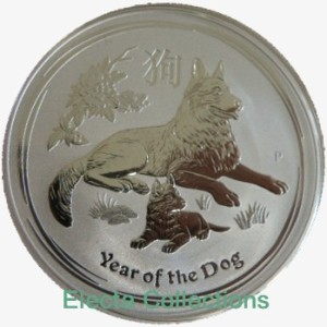 Australia - Silver coin BU 1 oz, Year of the Dog, 2018