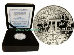 Greece 6 euro silver 2018 Year of Mathematics