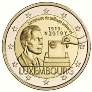 Luxembourg 2 euro Centenary of the universal suffrage