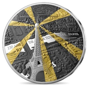 Tour Eiffel 10 Euro silver-rhodium, proof, 2019
