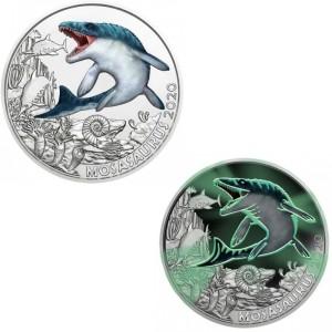 Austria – 3 Euro, Supersaurs series - Mosasaurus, 2020