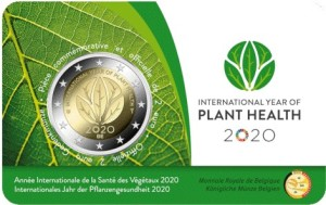 Belgium – 2 Euro, Year of Plant Health, 2020 (coin card FR)