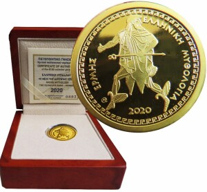 Greece-100-euro-gold-Olympian-God-Hermes