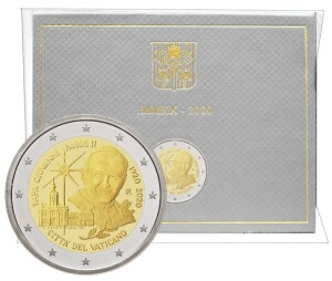 Vatican - 2 Euro, Saint John Paul II, 2020