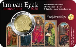 Belgium – 2 Euro, Jan van Eyck, 2020 (coin card FR)
