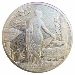 Cyprus - 5 Euro Silver PROOF, Leda and the Swan, 2020