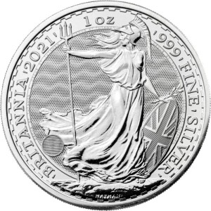 Great Britain - £2 Britannia One Ounce Silver Bullion, 2021