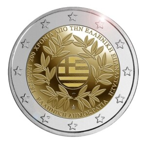 Greece – 2 Euro, 200 YEARS GREEK REVOLUTION, 2021